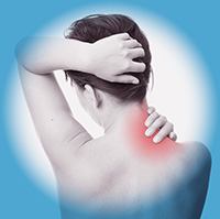Woman neck pain