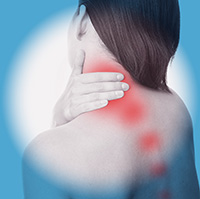 Neckpain could come from the spine