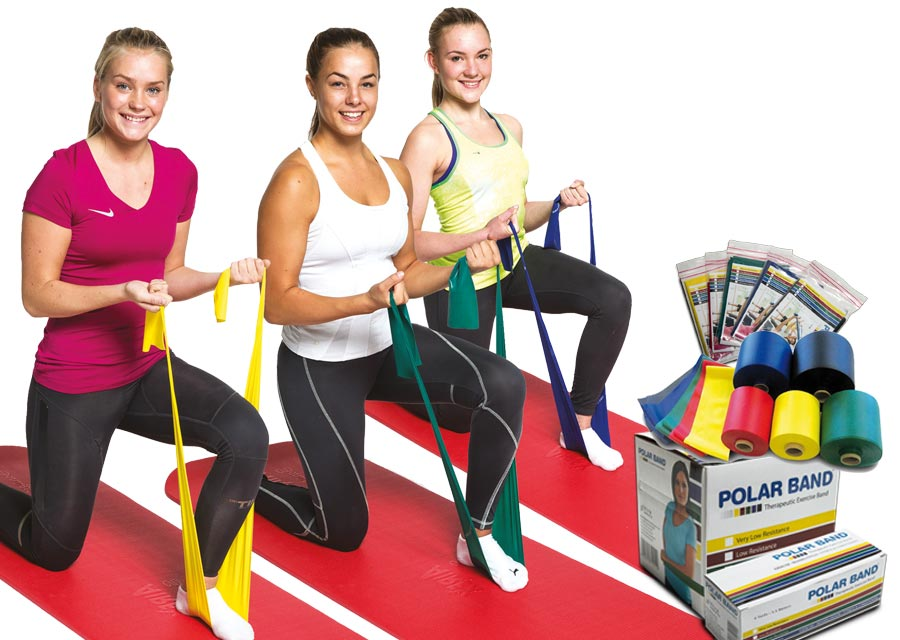 Three girls training with Polar Bands