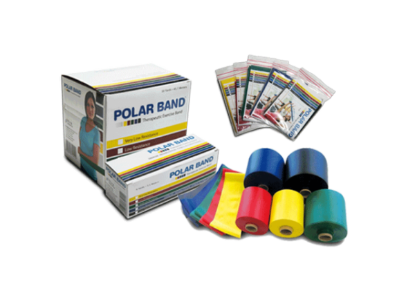 Polar Bands, lots of excersizes can be made with resistance bands and tubes.