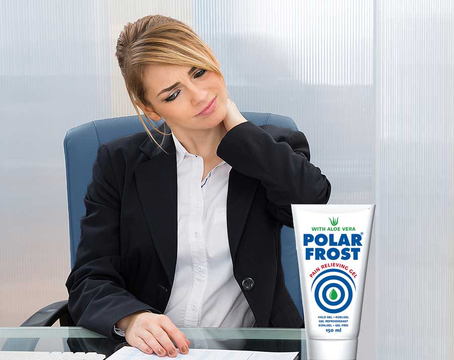 girl treatment with polar frost